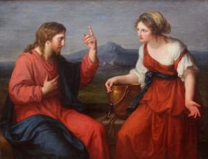 Angelika Kauffmann jesus et la samaritaine