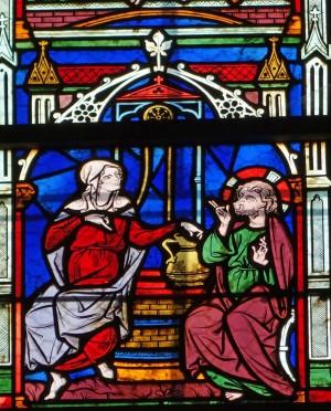vitraux du 14e s evron