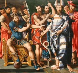 Moïse et Aaron devant pharaon